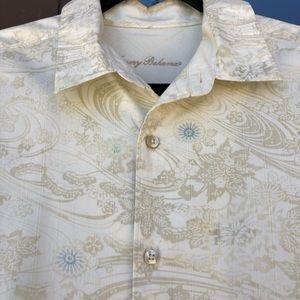 Tommy Bahama Off-White Hawaiian Dress Shirt M